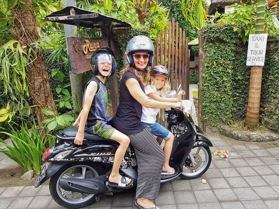 Bali With Kids: Scooter rides