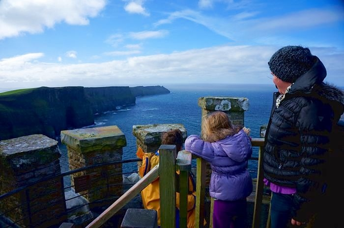 Princess Brides Cliffs of Insanity - Cliffs of Mohor with kids