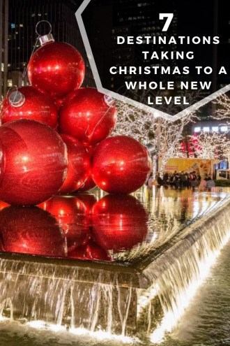 Best Christmas Destinations in the world - NYC. Pin this to plan your next Christmas destination.