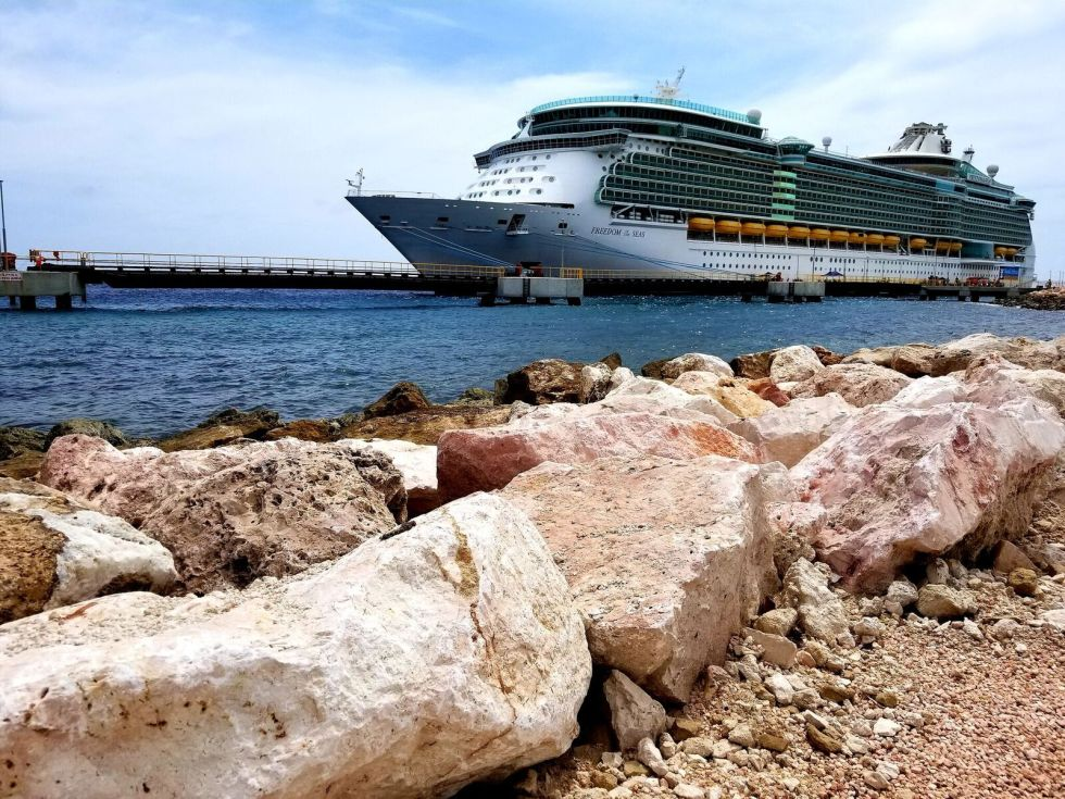 Royal Caribbean Ship docked at Curacao