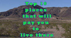 Top 10 places that will pay you to live there in USA
