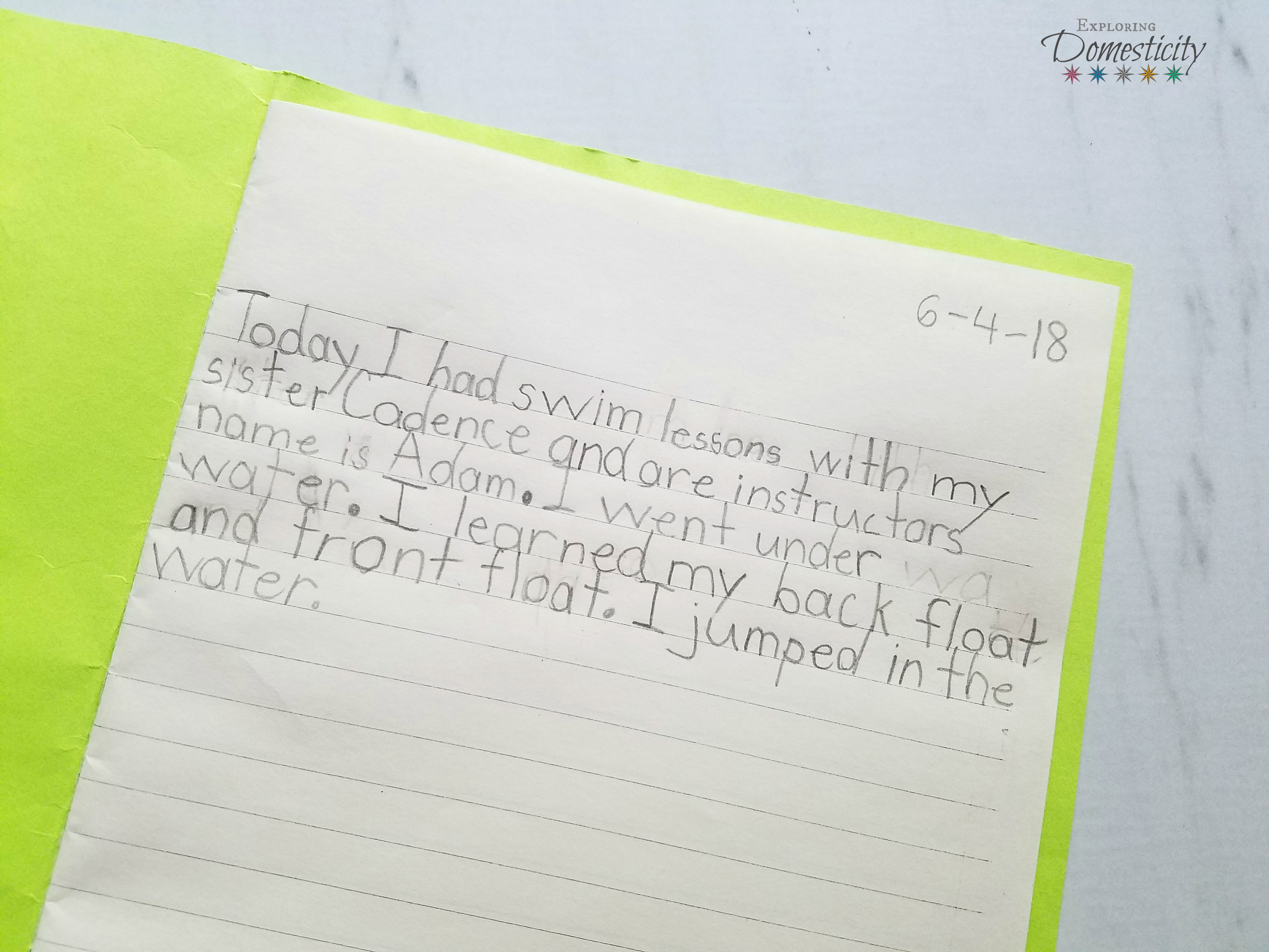 Summer Journal Create Memories And Keep Up With School Skills
