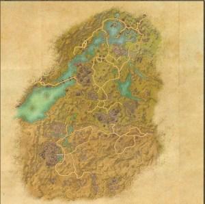 The maps of the Elder Scrolls Online - Bangkorai