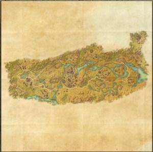 The maps of the Elder Scrolls Online - Deshaan