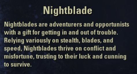 Exploring the Elder Scrolls - Class: Nightblade