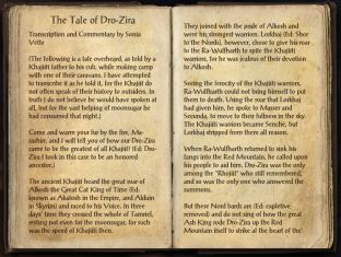 The Books of the Elder Scrolls Online - The Tale of Dro-Zira