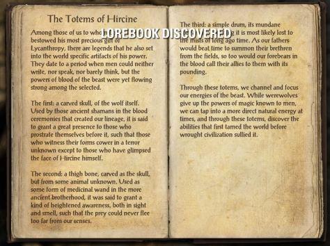 The Totems of Hircine - Craglorn Lorebook