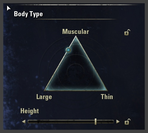 Character creation - body type selector