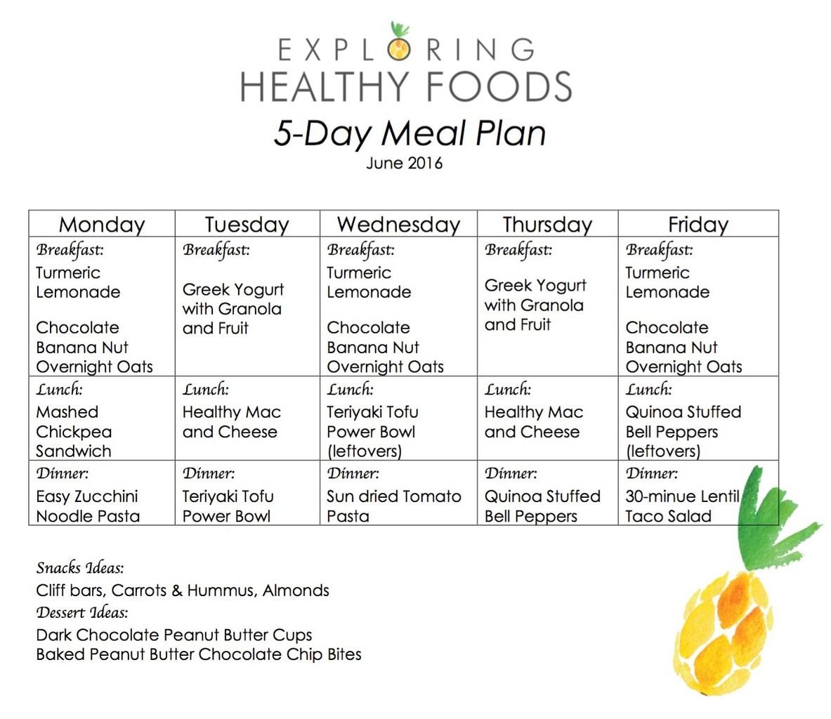 vegetarian meal plan diet