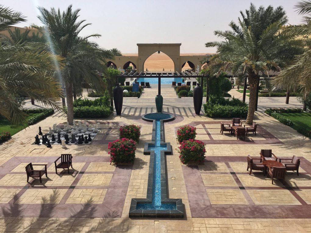 Tilal Liwa Hotel courtyard