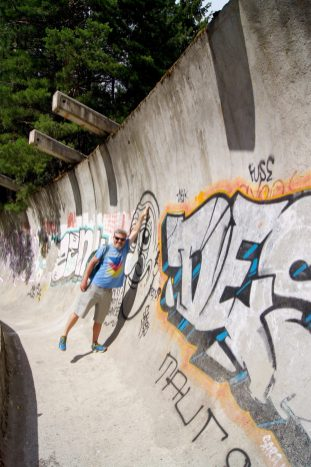 Old olympic bobsled course sarajevo
