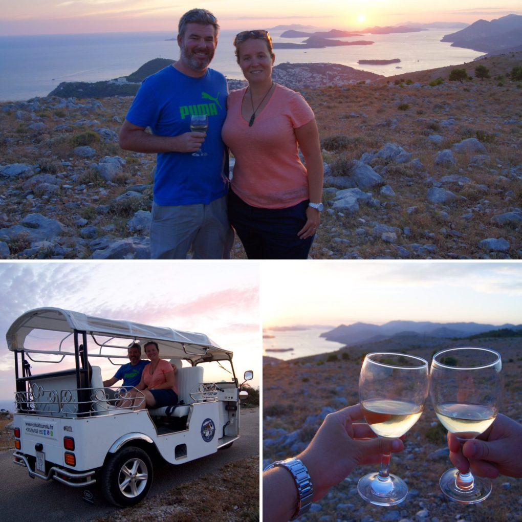 eco tuk tour dubrovnik sunset
