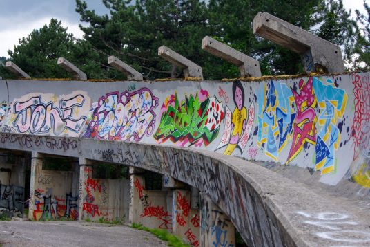 Sarajevo old bobsled track