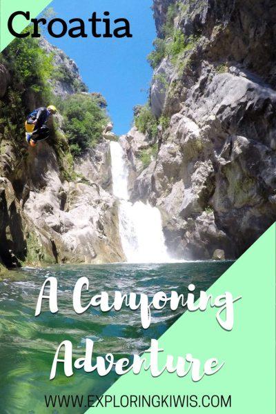 Canyoning croatia
