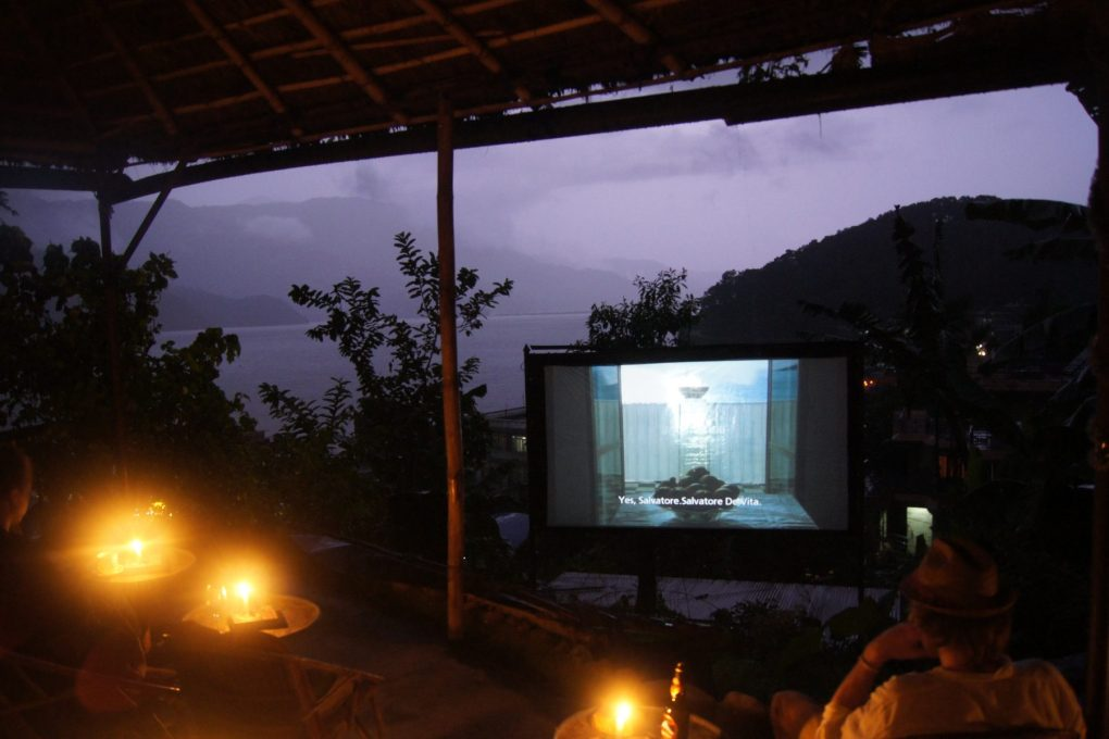 Movie Garden Pokhara nepal lake view rain