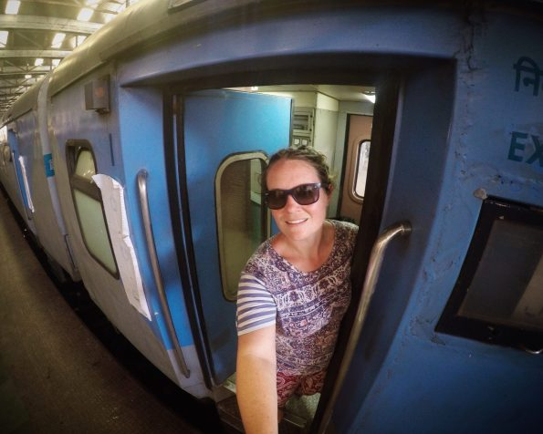 train travel india female traveller