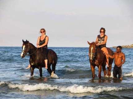 Overlanding Africa horseriding ocean