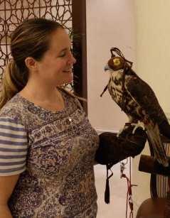 Lobby Shangri-La Doha Qatar falcon