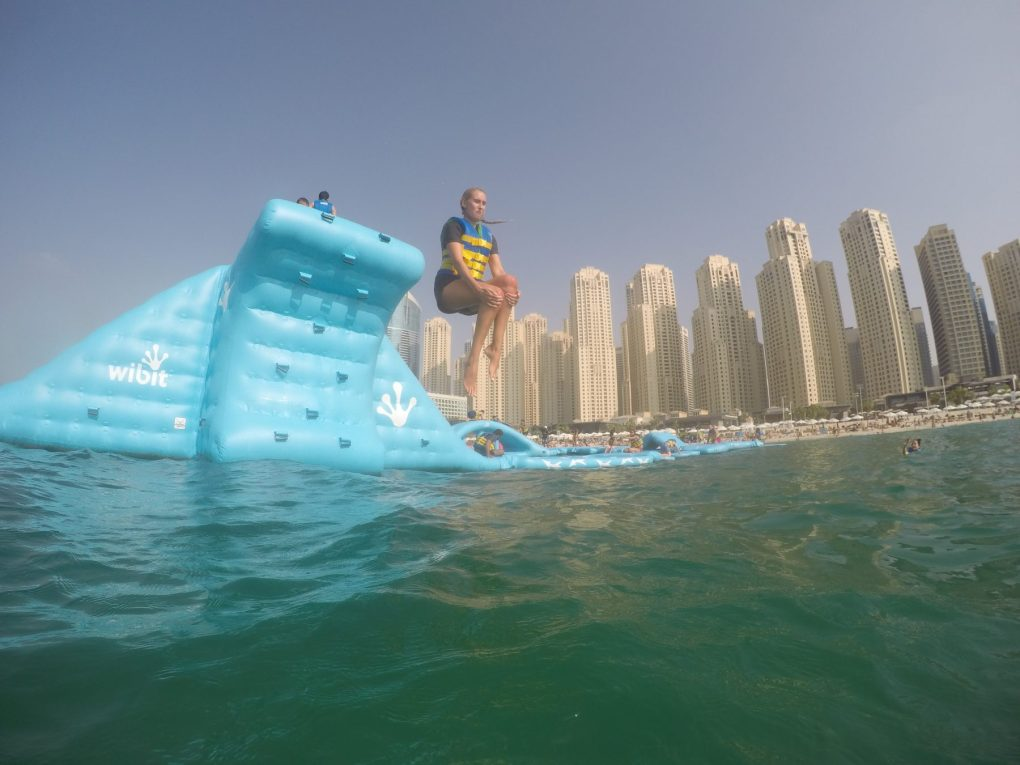Aqua Fun Dubai - largest inflatable water park in the world JBR