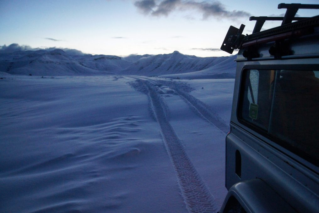 Snæfellsnes Peninsula Moonwalker Tours Iceland snow road drive mountains