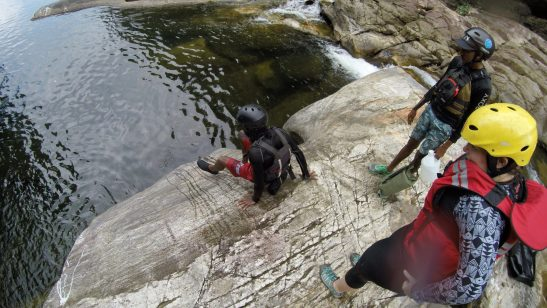 Borderlands - Adventure glamping in Sri Lanka advanced canyoning