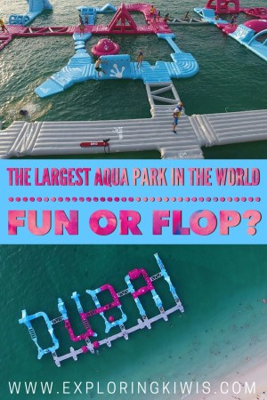 Duabi is now home to the largest inflatable water park in the world.  Located in one of Dubai's nicest areas, find out what we thought about it.  Is it worth stopping by Aqua Fun on your stopover to the city of the future?