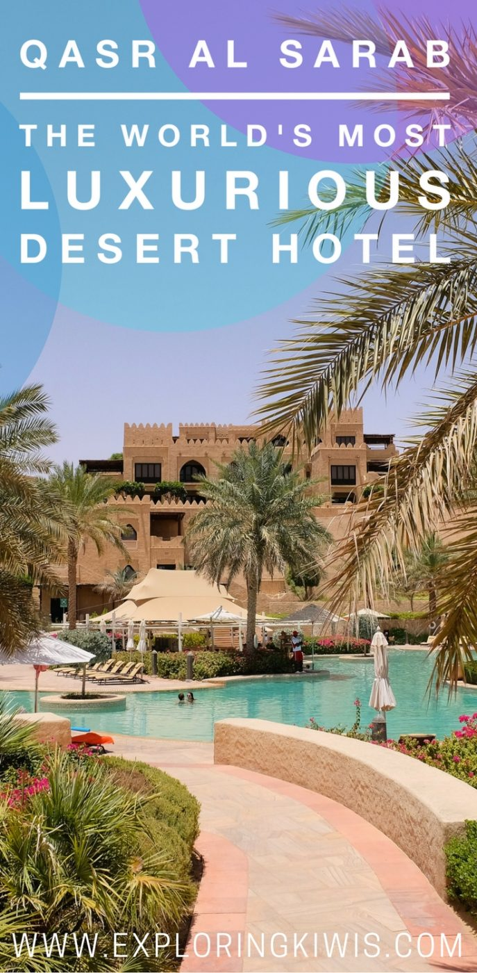 Qasr Al Sarab is the best luxury desert hotel in the world.  Located in the Liwa Desert it offers world class restaurants, activities, relaxation and the ultimate in luxury.  Don\'t visit Abu Dhabi or Dubai without heading out into the desert!