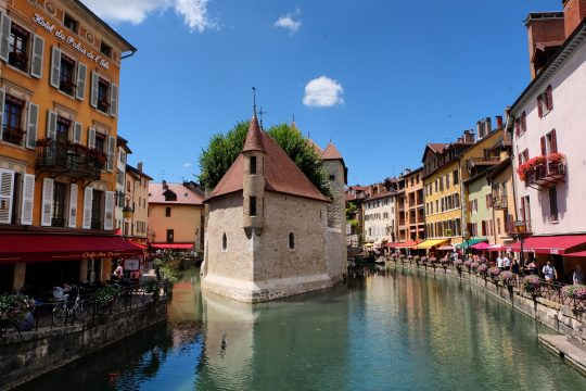 Annecy Old Town Canals church