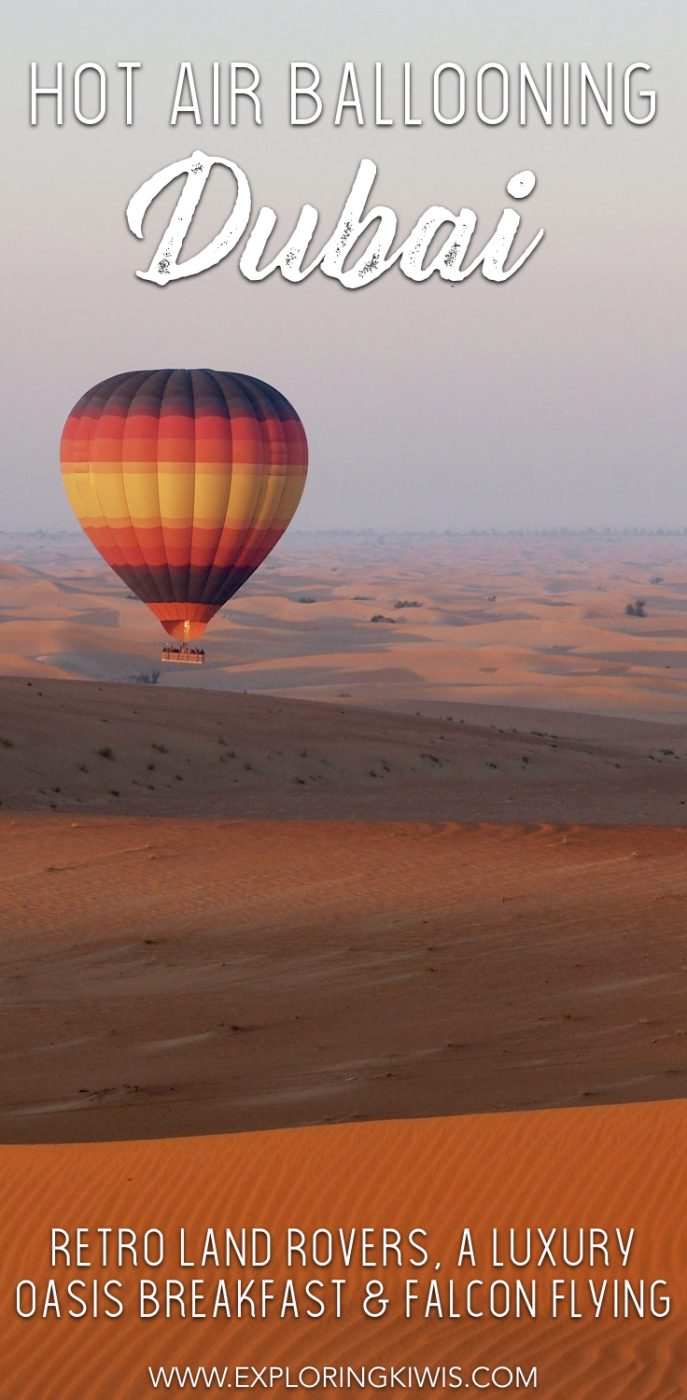 Imagine flying through Dubai\'s desert on a sunrise hot air balloon ride, flanked by a falcon.  Finish up with retro dune bashing and a luxury breakfast!  A must on your UAE vacation itinerary.
