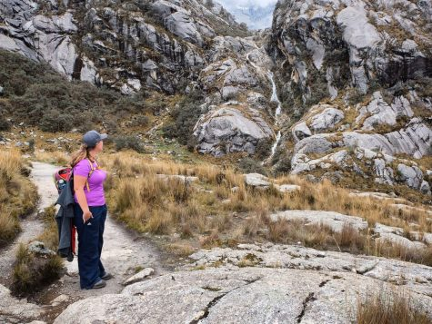 Laguna Churup Huaraz Peru waterfall