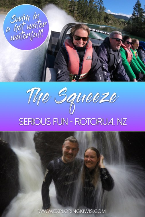 The Squeeze | New Zealand | Tourist Activity | Jet boating | Hot water waterfall | Tourism | NZ Riverjet | Must-do Rotorua | North Island #travel #rotorua #mustdoNZ