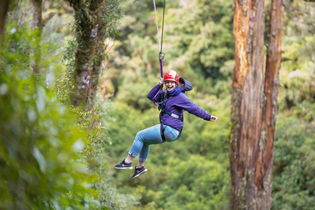 Zip lining in New Zealand