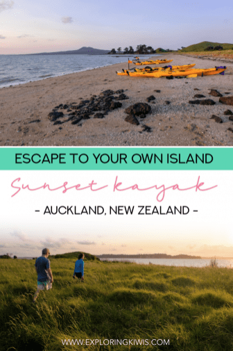 Escape to a deserted island from Auckland City. This is a must-do activity whilst you're on vacation in New Zealand's largest city. Read our review of a sunset BBQ sea kayak trip. #travel #newzealand