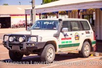 Aussie Helpers vehicle in a most needy area
