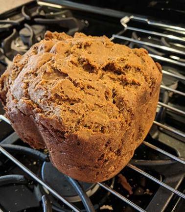 Gluten-free pumpernickel bread flop