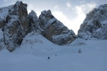 Off-piste skiing in one of the most beautiful parts of the Western Julian Alps