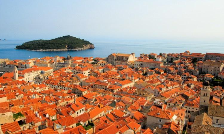 Dubrovnik Croatia Walls Ocean Mediterranean Seaside red roofs Old Town Travel Culture Adventure Europe