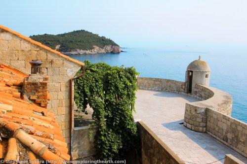 Dubrovnik Croatia Walls seaside Ocean Mediterranean Seaside red roofs Old Town Travel Culture Adventure Europe