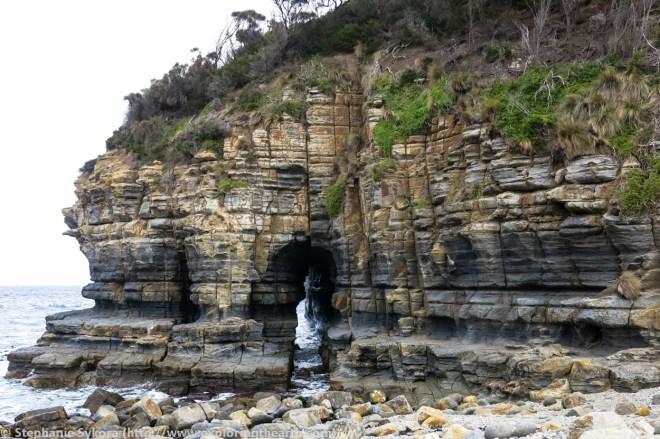 Australia, Travel, School, Blog, University, Graduate, Grad School, PhD, MSc, Research, Geology, Tasmania, Ocean, Sandstone, Tasman Peninsula, South Coast, Cliffs, Cave, Keyhole