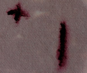 Magenta, black and yellow Biomic Dyes, produced by the human microbiome.