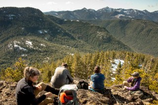 Island Mountain Ramblers, sunning on McKay Peak