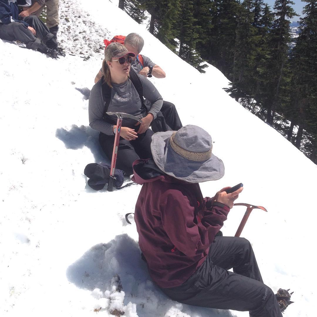 Steep slope on Mt Washibgton for self arrest practice !hellip