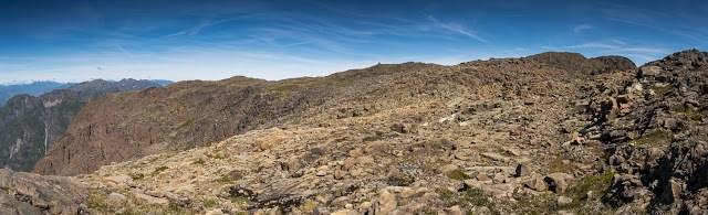 Mount Schoen's broad talus summit