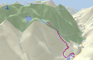 Clayoquot Plateau lake Map and GPS Route