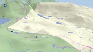 Mount Allen Brooks, Skitour Route