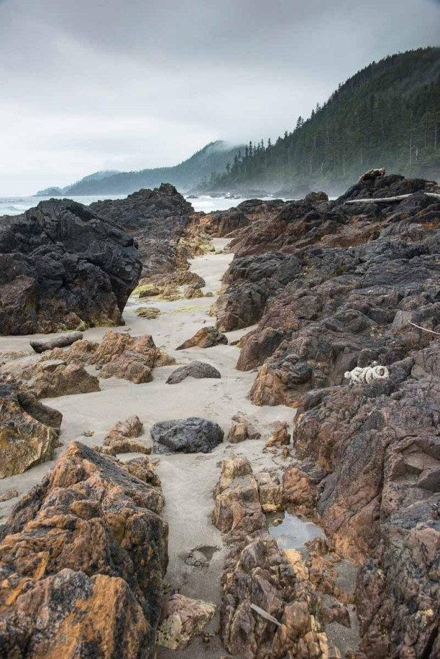 We walked the sands and enjoyed the rugged beauty of this seldom visited shore