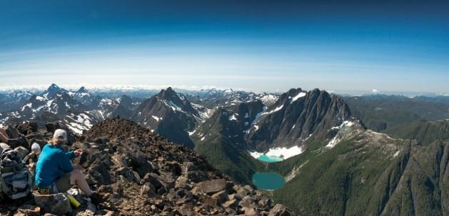 On the summit of Elkhorn Mountain