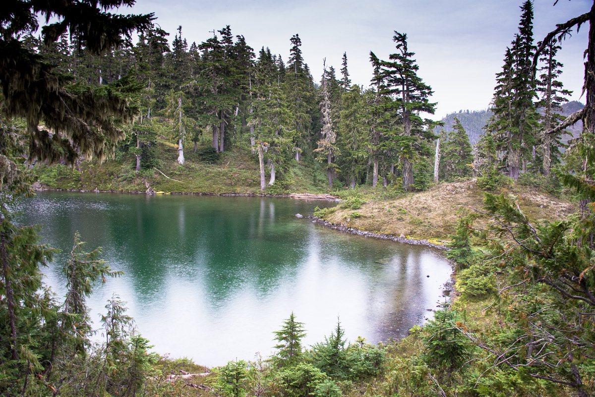the lake below the lower ridge