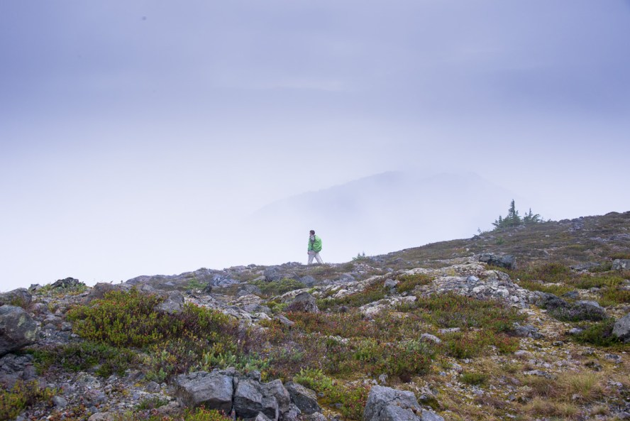 PHil wandering in the mists of Horseshoe Mountain's Ridge.