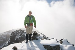 Phil looking magnanimous on the summit of Peak 5800